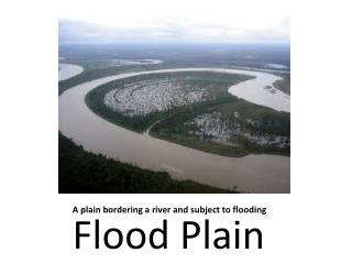 A plain bordering a river and subject to flooding