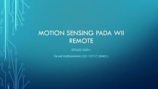 Motion sensing pada wii remote