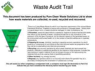 Waste Audit Trail