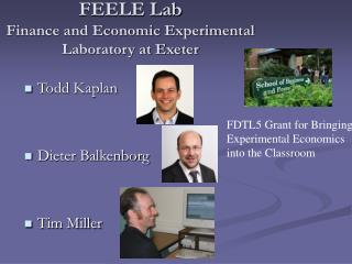 FEELE Lab Finance and Economic Experimental Laboratory at Exeter