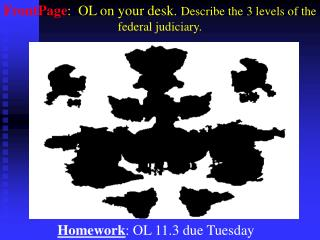 Homework : OL 11.3 due Tuesday