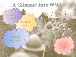 A Glimpse Into WWI