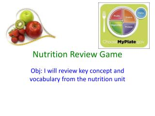 Nutrition Review Game
