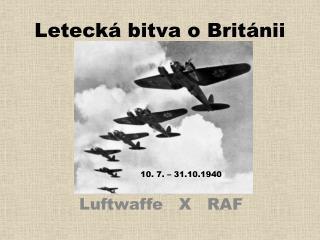 Letecká bitva o Británii