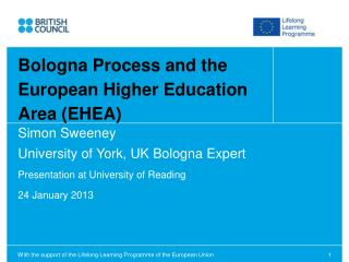 Simon Sweeney University of York, UK Bologna Expert Presentation at University of Reading
