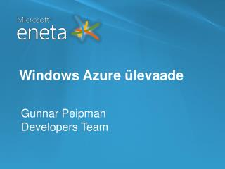 Windows Azure ülevaade