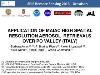 SPIE Remote  Sensing  2013 -  Dresdsen
