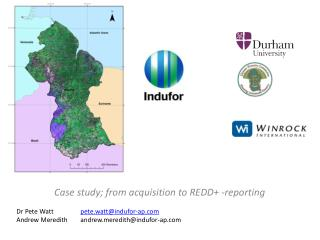 Case  study; from acquisition  to REDD+ - reporting