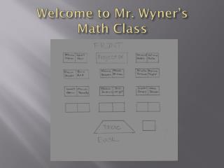 Welcome to Mr.  Wyner's Math Class