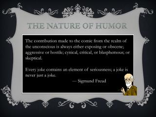 The Nature of Humor