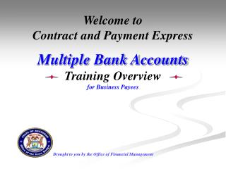 Multiple Bank Accounts Overview Training