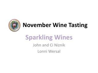 November Wine Tasting
