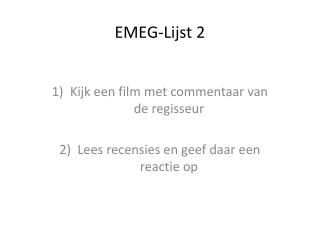 EMEG- Lijst  2