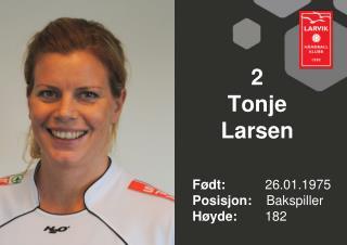 2 Tonje  Larsen