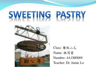 Sweeting pastry