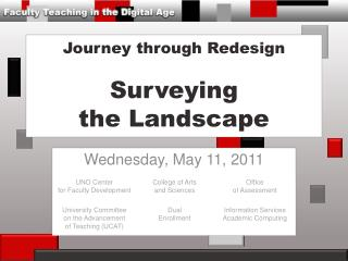 Journey  through Redesign Surveying the Landscape