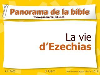 La vie  d'Ezechias