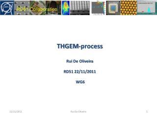 THGEM-process Rui  De Oliveira RD51 22/11/2011  WG6