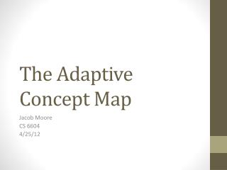 The Adaptive Concept Map