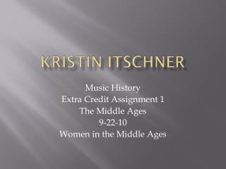 Kristin Itschner