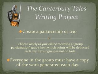 The Canterbury Tales Writing  Project