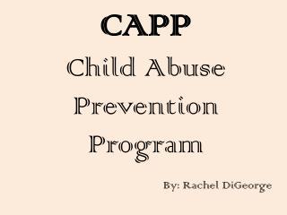 CAPP Child Abuse Prevention Program