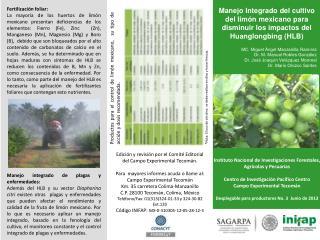 Instituto Nacional de Investigaciones Forestales, Agrícolas y Pecuarias