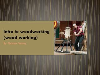 Intro to woodworking (wood working)