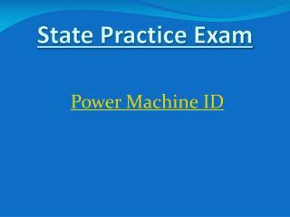Power  Machine ID