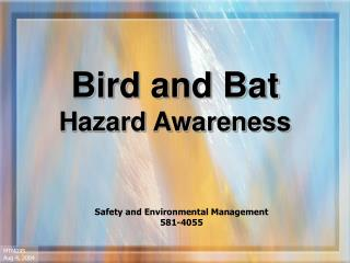 Bird and Bat Hazard Awareness