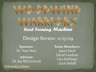 Team Members:  Jason Fitch David Gardner Lisa Huffman Zach  Sielaff