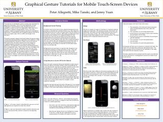 Graphical Gesture Tutorials for Mobile  Touch-Screen  Devices
