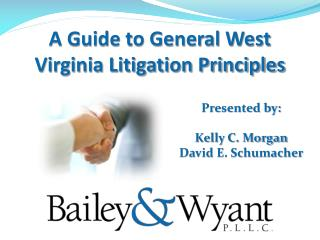 A Guide to General West Virginia Litigation Principles