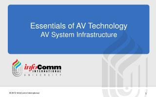 Essentials of AV Technology AV System  Infrastructure