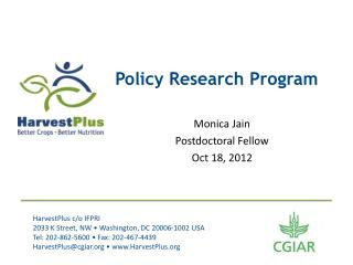 Policy Research Program