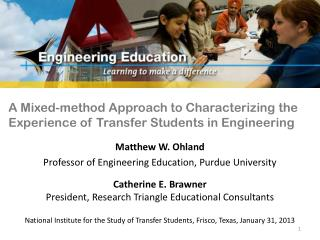 A Mixed-method Approach to Characterizing the Experience of Transfer Students in Engineering