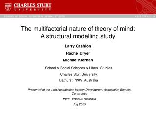 The multifactorial nature of theory of mind: A structural modelling study