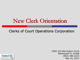 New Clerk Orientation