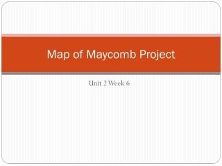Map of  Maycomb  Project
