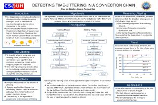 DETECTING TIME-JITTERING IN A CONNECTION CHAIN