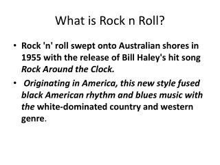 What is Rock n Roll?