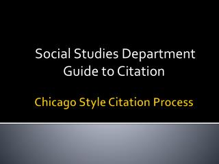 Chicago Style Citation Process