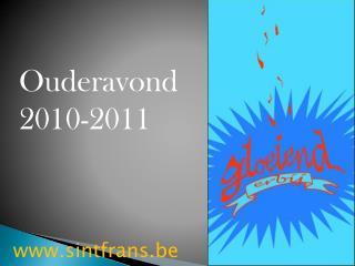 Ouderavond 2010-2011