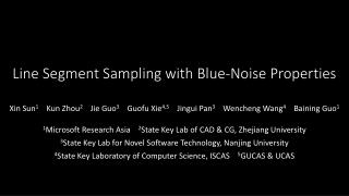 Line Segment Sampling with Blue-Noise Properties