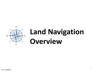 Land Navigation Overview