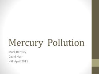 Mercury  Pollution