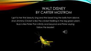 Walt Disney by carter  mostrom