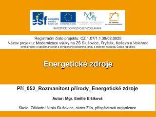 Energetické zdroje