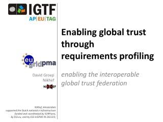 Enabling global trust through  requirements profiling