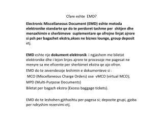 Cfare eshte   EMD?